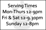 Opening Times at The Flowing Well